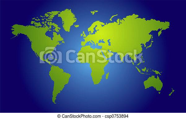 Vista del mapa mundial - csp0753894