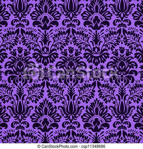 Vivido fondo de damasco púrpura - csp11348686