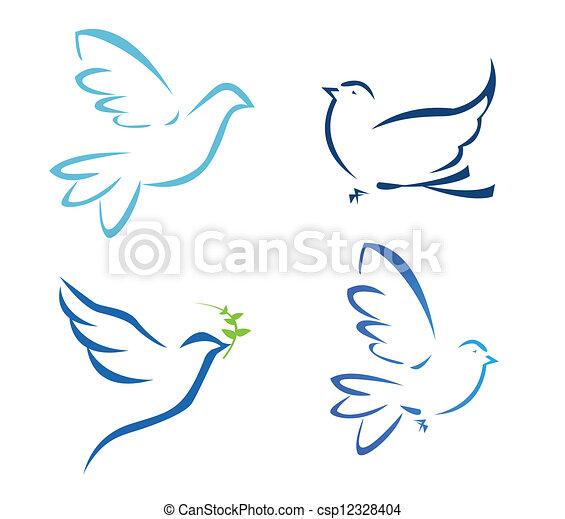 Ilustración del vector de paloma voladora - csp12328404