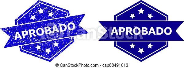 watermark, hexagonal, sucio, aprobado, variante, textura, limpio - csp88491013
