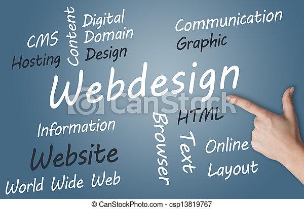 Un concepto de diseño Web - csp13819767