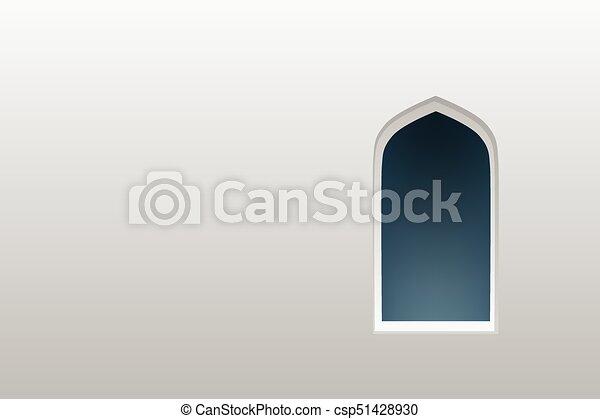 Ventanas de arco árabe y puertas, vector - csp51428930