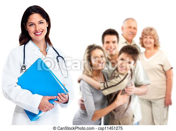 Una doctora de familia. Salud. - csp11451275