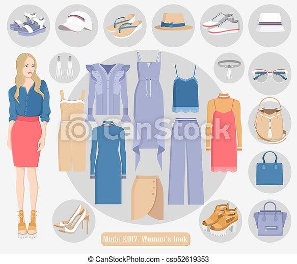 Mode 2017 mujeres de estilo moderno colección - csp52619353