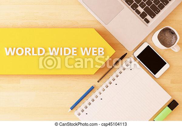 Telaraña mundial - csp45104113