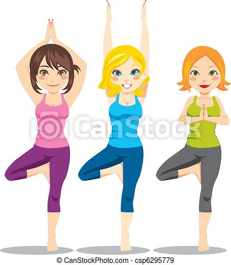 Mujeres Yoga - csp6295779