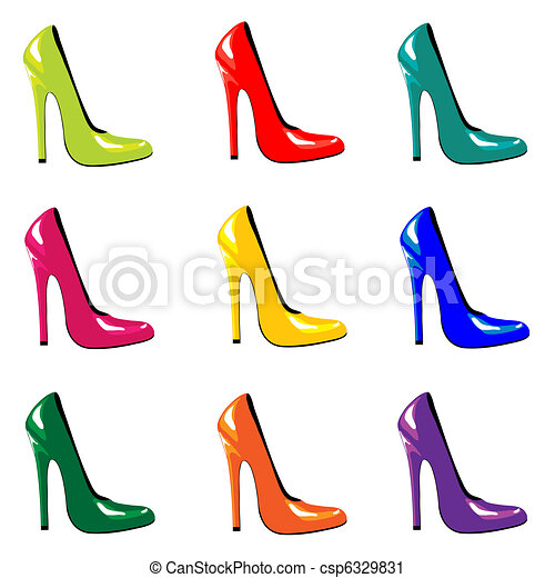 Zapatos de colores - csp6329831