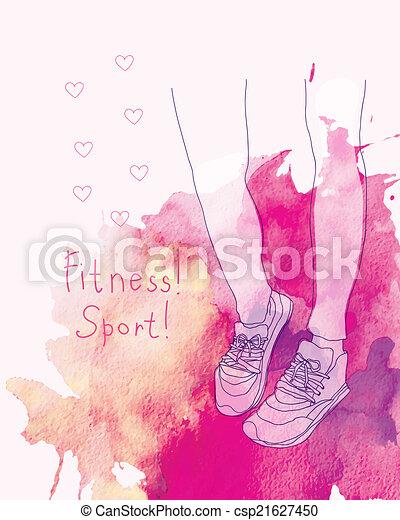 Zapatos deportivos. - csp21627450